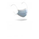 AUSVERKAUFT  -  4-lagige Mundschutzmaske / OP-Maske (Spezialmaske) - Typ IIR mit Spritzschutz – mit Bändern, Farbe blau, Art.-Nr. 85004