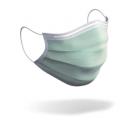 AUSVERKAUFT -  4-lagige Mundschutzmaske / OP-Maske (Spezialmaske) - Typ IIR mit Spritzschutz – mit Ohrschlingen, Farbe grün, Art.-Nr. 85003S