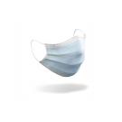 4-lagige Mundschutzmaske / OP-Maske (Spezialmaske) - Typ IIR mit Spritzschutz – mit Ohrschlingen, Farbe blau, Art.-Nr. 85003 - 1 Box = 50 Stück